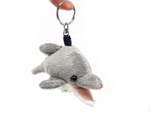 Plüsch Schlüsselanhänger - grauer Delfin