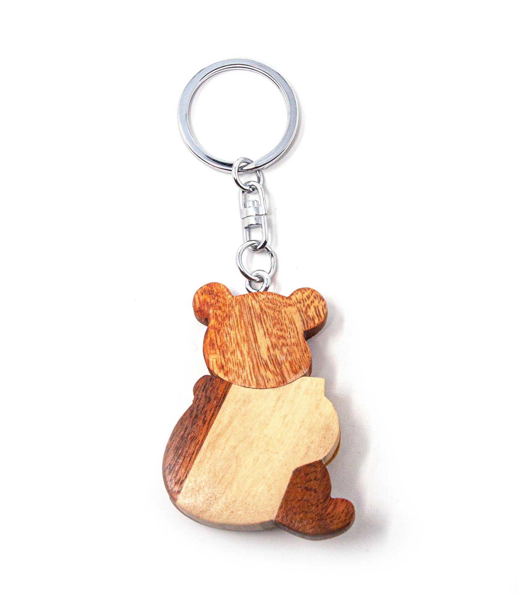 Braunbär Schlüsselanhänger aus Holz