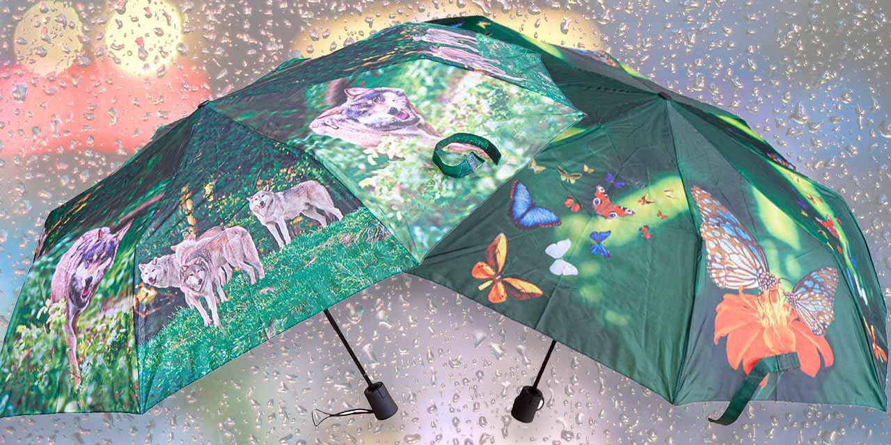 Mit unseren tierisch schönen Regenschirmen...