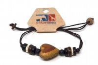 Armband mit Holzmotiv - Herz