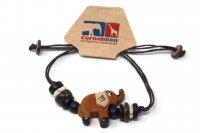 Armband mit Holzmotiv - Elefant