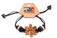 Armband mit Holzmotiv - Blume