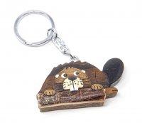 Schlüsselanhänger aus Holz - Biber