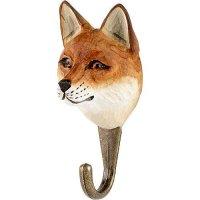 Kleiderhaken aus Holz - Tierkopf Fuchs