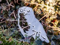 Beetstecker - Eule - Edelrost - 31 cm