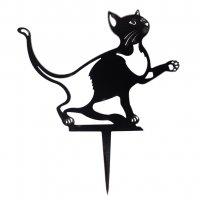 Beetstecker - Katze - Edelrost - 23 cm