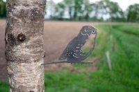 Baumstecker Glücksvogel - Eule - Edelrost - 21 cm
