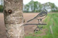 Baumstecker Glücksvogel - Bachstelze - Edelrost - 23 cm