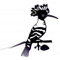 Baumstecker Glücksvogel - Wiedehopf - Edelrost - 27 cm