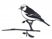 Baumstecker Glücksvogel - Buchfink - Edelrost - 22 cm