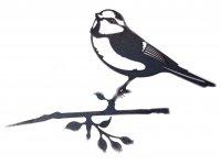 Baumstecker Glücksvogel - Blaumeise - Edelrost - 25 cm