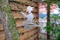 Baumstecker Glückstier - Katze - Edelrost - 25 cm