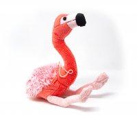 Kuscheltier - Flamingo mit Band - 28 cm