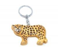 Schlüsselanhänger aus Holz - Leopard