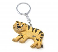 Schlüsselanhänger aus Holz - Tiger