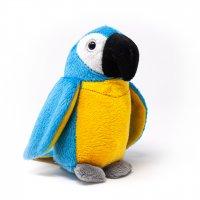 Kuscheltier - Papagei blau - 15 cm