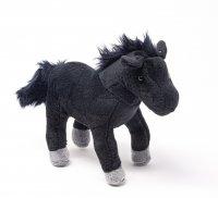 Kuscheltier - Pferd schwarz - 25 cm