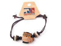 Armband mit Holzmotiv - Eule