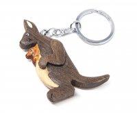 Schlüsselanhänger aus Holz - Känguru