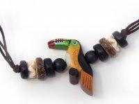 Armband mit Holzmotiv - Tukan