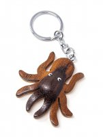 Schlüsselanhänger aus Holz - Oktopus