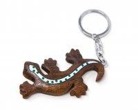 Schlüsselanhänger aus Holz - Eidechse