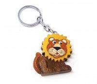 Schlüsselanhänger aus Holz - Löwe