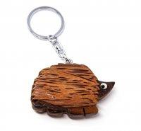 Schlüsselanhänger aus Holz - Igel