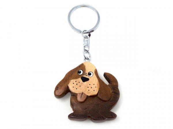 Schlüsselanhänger aus Holz - Hund