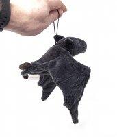 Kuscheltier - schwarze Fledermaus mit Band - 36 cm