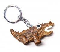 Schlüsselanhänger aus Holz - Krokodil