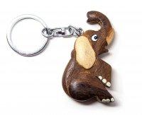 Schlüsselanhänger aus Holz - Elefant
