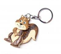 Schlüsselanhänger aus Holz - Eichhörnchen