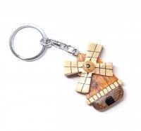 Schlüsselanhänger aus Holz - Windmühle