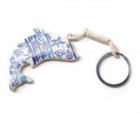 Schlüsselanhänger aus Holz - maritim - Delfin