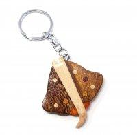 Schlüsselanhänger aus Holz - Kuhnasenrochen