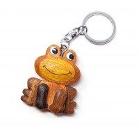 Schlüsselanhänger aus Holz - Frosch