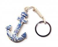 Schlüsselanhänger aus Holz - maritim - Anker