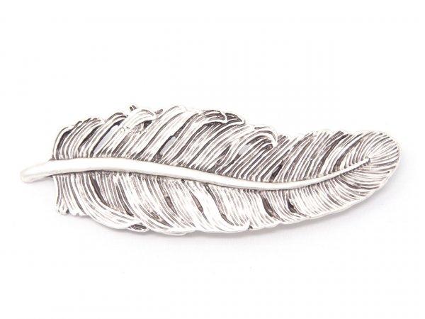 Gürtelschnalle - Silberne Feder