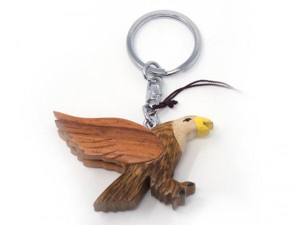Schlüsselanhänger aus Holz - Adler Flug