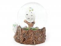 Schneekugel Poly - Schnee-Eule