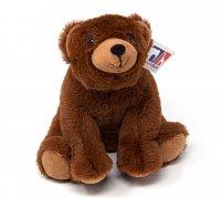 Kuscheltier - Bär braun sitzend - 20 cm