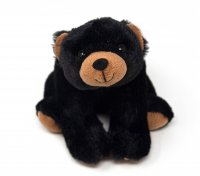 Kuscheltier - Bär schwarz sitzend - 20 cm