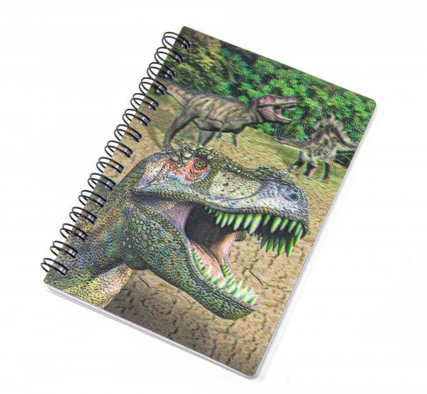 3D Notizbuch - Dinos - klein