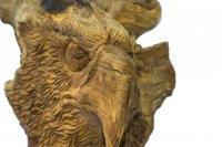 Adlerkopf hängend aus Teakholz