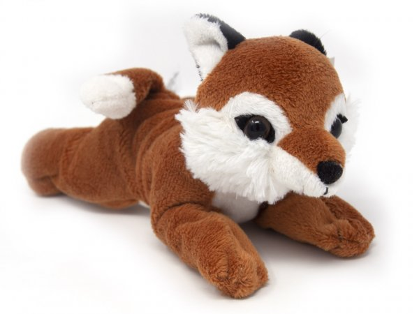 Kuscheltier - Fuchs rötlich, liegend - 16 cm