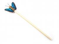 Holzbleistift - blauer Schmetterling