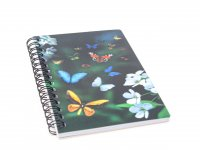 3D Notizbuch - Schmetterlinge - klein