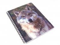 3D Notizbuch - Wolfskopf - groß