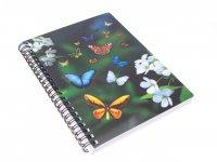 3D Notizbuch - Schmetterlinge - groß